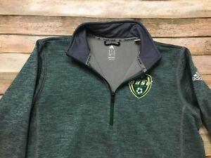 Black Hills State Adidas Soccer TEAM ISSUE Jacket RARE Medium Green NCAA BHSU