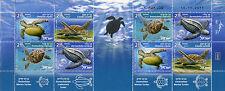 Israel 2016 MNH Marine & Leatherback Turtles 8v M/S Sea Turtle Reptiles Stamps