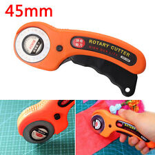 45mm Handle Steel Blade Round Rotary Cutter Quilting Fabric Craft Cutting Tool