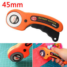 45mm Handle Steel Blade Round Rotary Cutter Quilting Fabric Craft Cutting Tool.