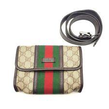 GUCCI 152597 Sherry line GG Plus Hip bag -Waist Pouch Beige x Dark Brown