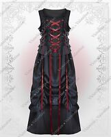 Steampunk Gothic Victorian Renaissance Corset Top Bustle Skirt Black Dress