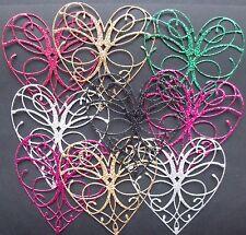 Paquete De 10 Surtido corazones purpurina para tarjeta de decisiones y de Scrapbooking