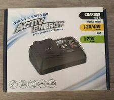 Activ Energy Battery Charger Quick for 20/40V Li-ion Ferrex Cordless Tool BNIB