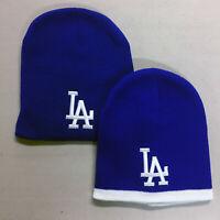 Los Angeles Dodgers Short Beanie Embroidered LA Skull Cap Hat Men LAD Logo
