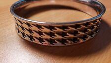 Silver and Black Bangle Bracelet