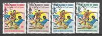 Football Comores (10) série complète 4 timbres oblitérés