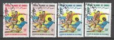 Fútbol Comores (10) serie completo 4 sellos matasellados