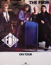 Led Zeppelin The Firm On Tour 1986 Original Promo Poster