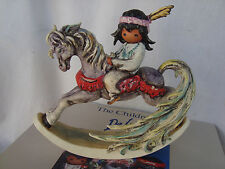 "DeGrazia ""Beautiful Rockinghorse"" Goebel Figurine 8"" L Retired Germany NIB MINT"
