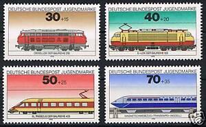 836-839 ** BRD 1975, Jugend.Lokomotiven