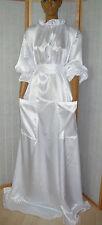 ADULT Nylon Kleid Baby Dienstmädchen kleid zofenKleid Nachthemd mit Taschen