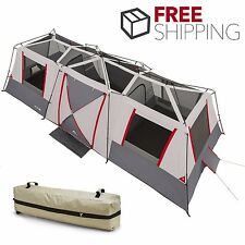 Ozark Trail 15 Person Instant Cabin Tent Large 3 Room Family Camping Shelter Bag