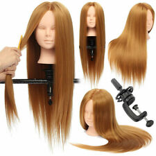 26'' Hairdressing Makeup Training Practice Head Mannequin 30% Real Hair +Clamp