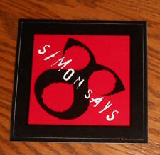 "Simon Says Sticker Original Promo Square 3.75"" Rock RARE"