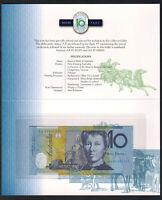 Australia. 1997 10 Dollars - MacFarlane/Evans. Partial Solid # 007777 NPA Folder