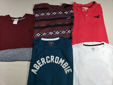 NICE LOT 5 HOLLISTER ABERCROMBIE & FITCH LONG SLEEVE T SHIRTS MENS L