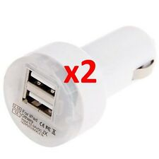 2x Dual Port Car Charger USB Power Adapter For Apple iPhone 5 5s 5c 6 & 6 Plus