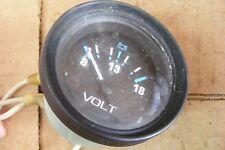 Teleflex Universal Volt Voltage Gauge Meter 0-18 Outboard Marine Boat 56931
