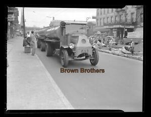 1930s Truck Commercial Oil Gas Tanker Pennsylvania Photo Film Camera Negative BB
