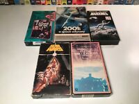 60's & 70's Sci Fi VHS Lot of 5 Star Wars Close Encounters Marooned Planet Apes