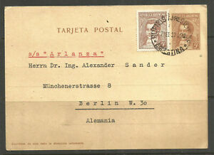 OSBURGH – ARGENTINA. 1937. CARD. SS ARLANZA. BUENOS AIRES TO BERLIN.