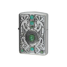 ZIPPO Lighter Indian spirit Kokopell with Turquoise Best Buy Gift New from Japan