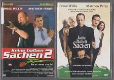 KEINE HALBEN SACHEN 1 + KEINE HALBEN SACHEN 2 Bruce Willis Sammlung DVD Filme