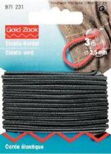 Corde élastique 2,5 mm noir 3 m - CARTE PRYM 971231 0,80€/ m