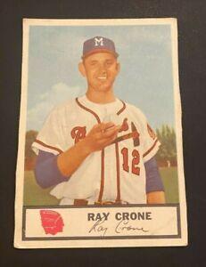 1955 Johnston Cookies #12 Ray Crone BRAVES oddball RARE! NO RESERVE