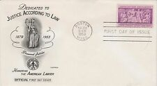 First day issue, Justice according to Law, 3 cent, Scott Catalog # 1022
