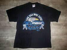 Vtg Hanes Sturgis Black Hills Rally Motorcycle Chopper Shirt T-shirt Men's Large