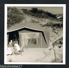 FOTO vintage PHOTO, Zelt Strand family beach tent famille plage /46f