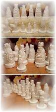 LEWIS   roh Schachfiguren MITTELGROß Schach  geschichte  Schachspiel