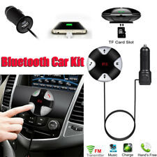 Bluetooth 4.0 Handsfree Car Kit FM Transmitter MP3 Player & USB Charger Magnetic