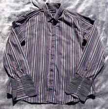 Autograph Gents Sz XL Long Sleeve Multi Coloured Striped Shirt Work Smart Office