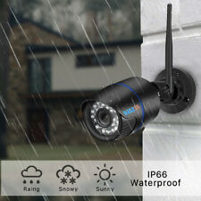Black Wireless Home 1080P Security IP Camera Rechargeable Battery Powered UK