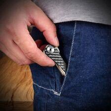 Smart Key Holder Keychain Carbon Fiber Multi Keychain Pocket key Tool black I6Z9