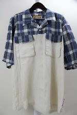Veezo Linen & Rayon Blend Multi-Colored Button Down Short Sleeve Shirt Size 2XL