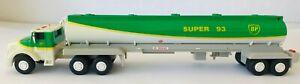 "BP Super 93 Model Oil Tanker Tractor Trailer Die Cast Metal & Plastic 16.5"" 1994"