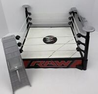 WWE RAW Action Figure Wrestling Match Ring Childrens Toy Play Set Mattel WWF WCW