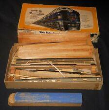 Strombecker Wooden HO B&O Streamline Train with original box.