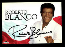 Roberto Blanco Autogrammkarte Original Signiert ## BC 87371