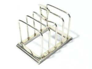 Antique Silver Plated Toast Rack H&H 4 Piece - Cute