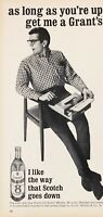 1966 Grant's Scotch Whisky 86 Proof Man Typing Typewriter Vintage Photo Print Ad