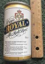 Pripps Royal All Malt Beer Mini Beer Can 17.5 Cl Bottom Opened