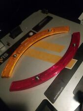 Vintage Bicycle Wheel Reflector Safety Spoke Raleigh Reflector set X2 Red&Yellow