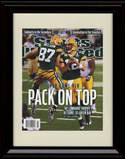 Framed Jordy Nelson Sports Illustrated Autograph Print Packers Super Bowl Champs
