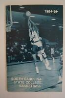 Vintage Basketball Media Press Guide South Carolina State University 1984 1985