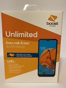 """BRAND NEW BOOST MOBILE LG K51 TITAN GRAY 32GB FACTORY SEALED 6.5"""" DISPLAY 13MP"""